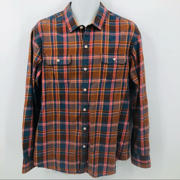 Tommy Bahama men's button down flannel size large